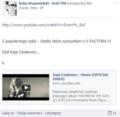 Kaja Czaja - kolejna wyrzucona przez Wojewódzkiego...