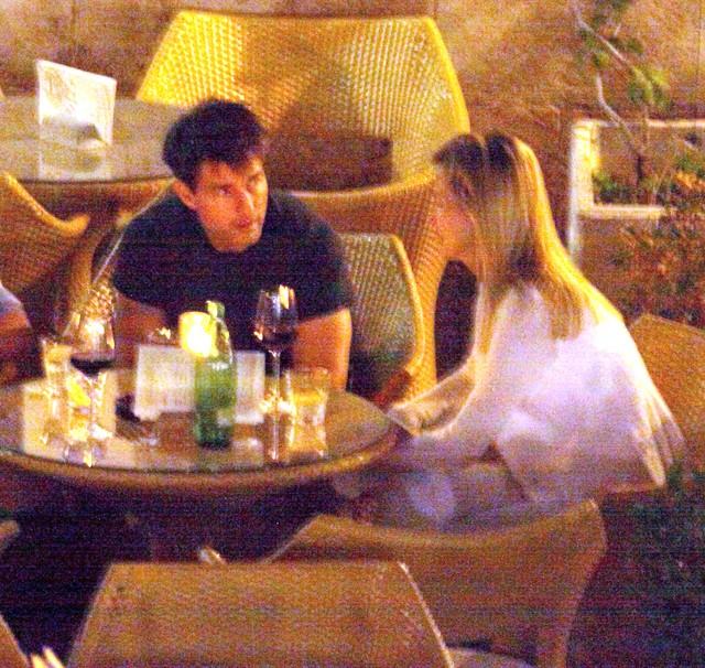 Tom Cruise podczas kolacji