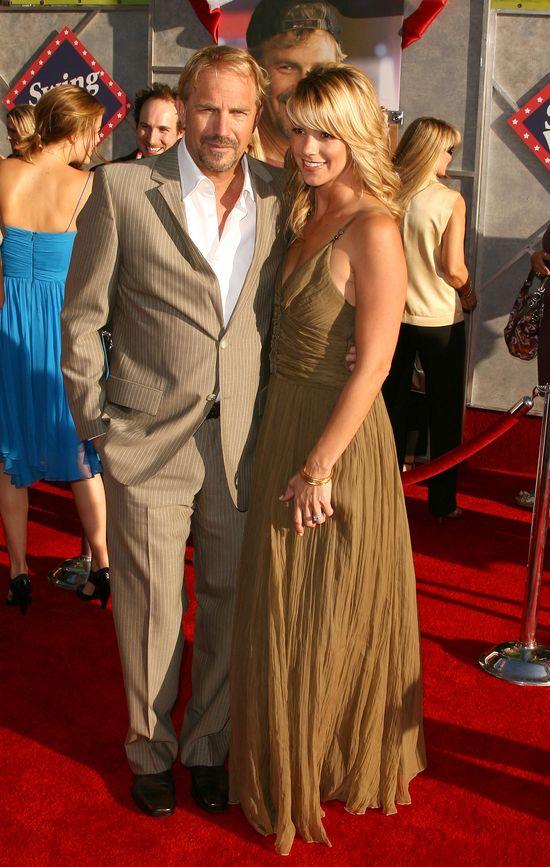 Kevin Costner i jego urocza żona Christine Baumgartner