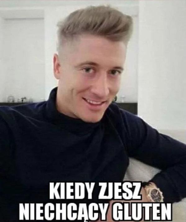 Robert Lewandowski bohaterem memów po przefarbowaniu się na blond
