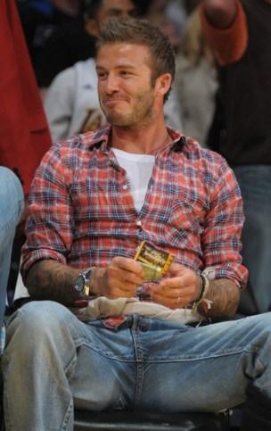 David Beckham bierze lekcje od Toma Cruise'a