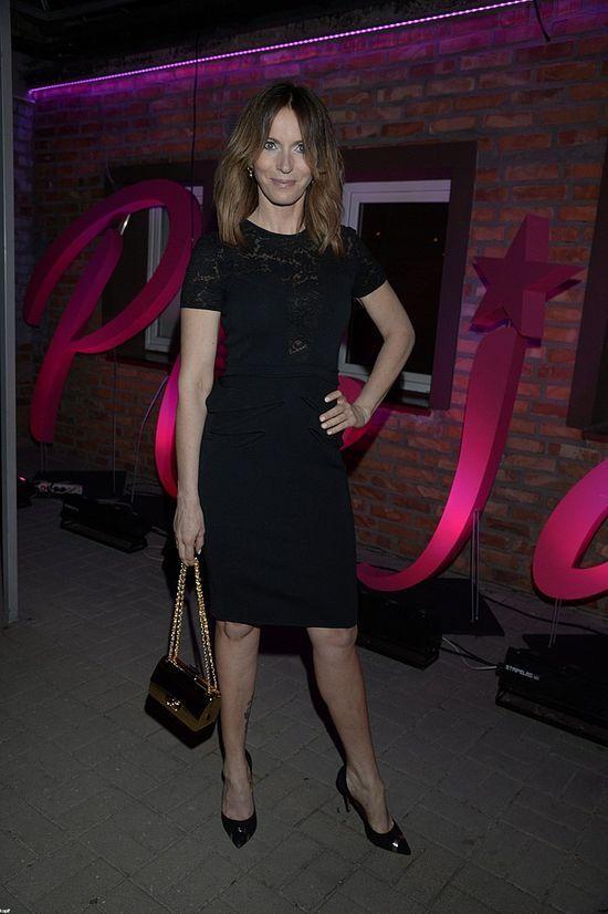 Paulina Smaszcz-Kurzajewska w czarnej sukience na Plejada Top Ten.