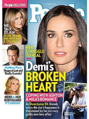 Demi Moore zazdrosna i sfrustrowana, gdy patrzy na swego eks