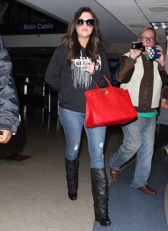 Khloe Kardashian z torbą Birkin Bag