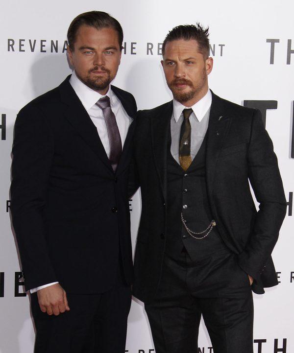 Dwaj seksowni brodacze na premierze Zjawy (FOTO)
