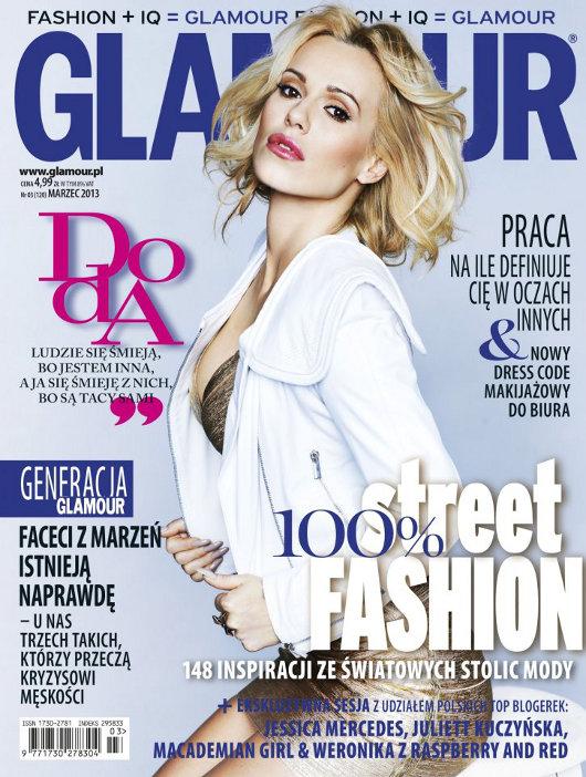 Doda na okładce Glamour