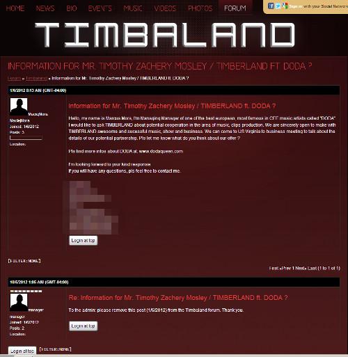 Były menadżer Dody: to nie ja napisałem post na forum Timbal