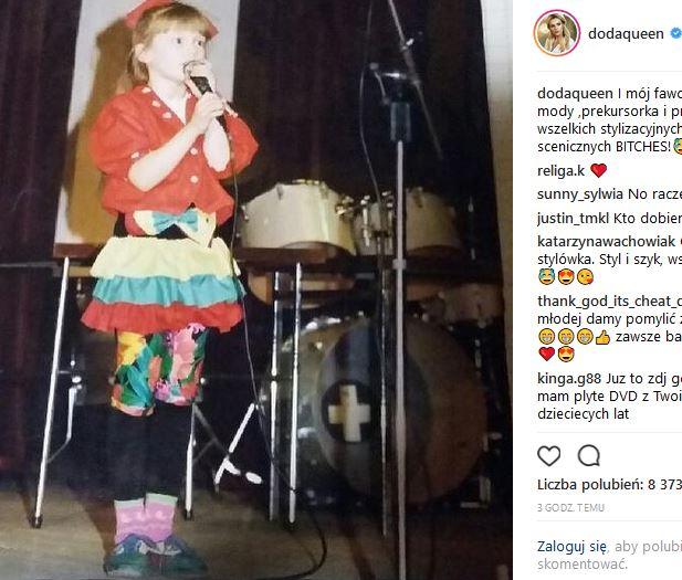 Doda pokazała niepublikowane ZDJĘCIA z dzieciństwa: no strój PETARDA