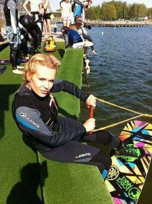 Doda uczy się wakeboardingu (FOTO)