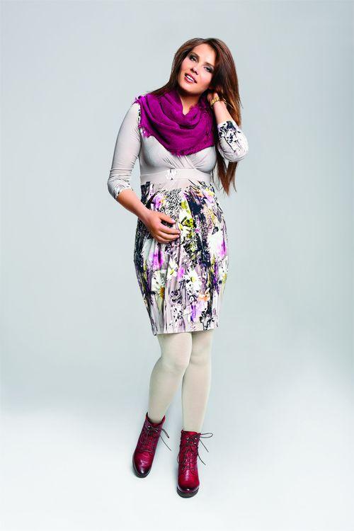 Dorota Trojanowska z Top model reklamuje ci��owe ubrania