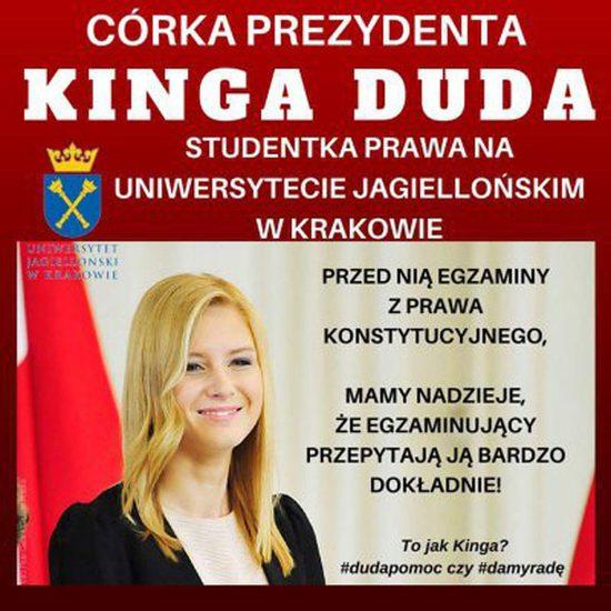Kinga Duda bohaterką memów - niedługo egzamin z...