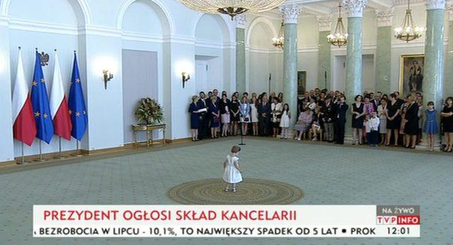 Dziewczynka bohaterką oficjalnego spotkania u prezydenta