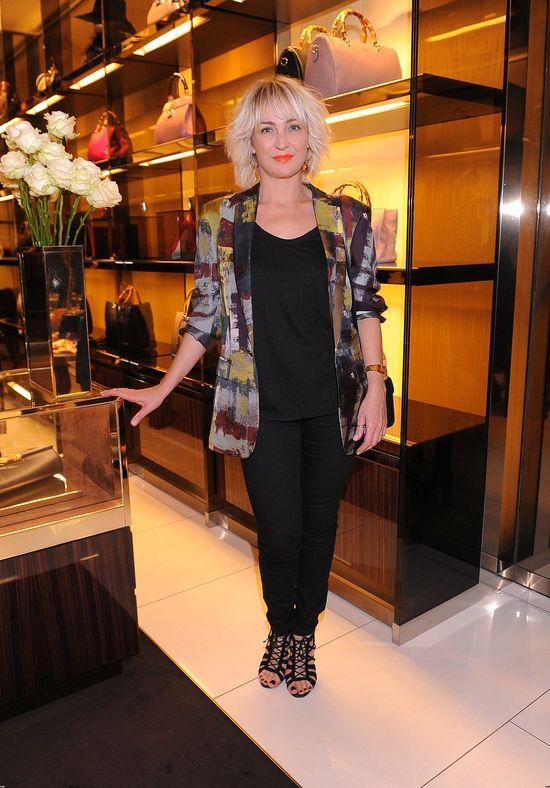 Anna Pusclecka na otwarciu butiku Gucci