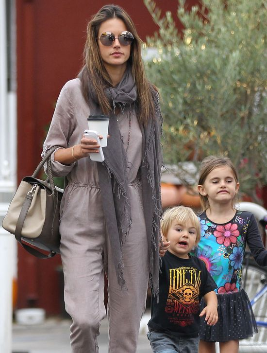 Alessandra Ambrosio z dziećmi, Anją Mazur i Noahem Mazur