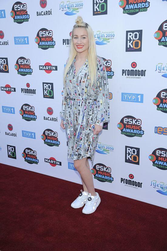 Agata Dziarmagowska na ogłoszeniu nominacji do Eska Music Awards 2015