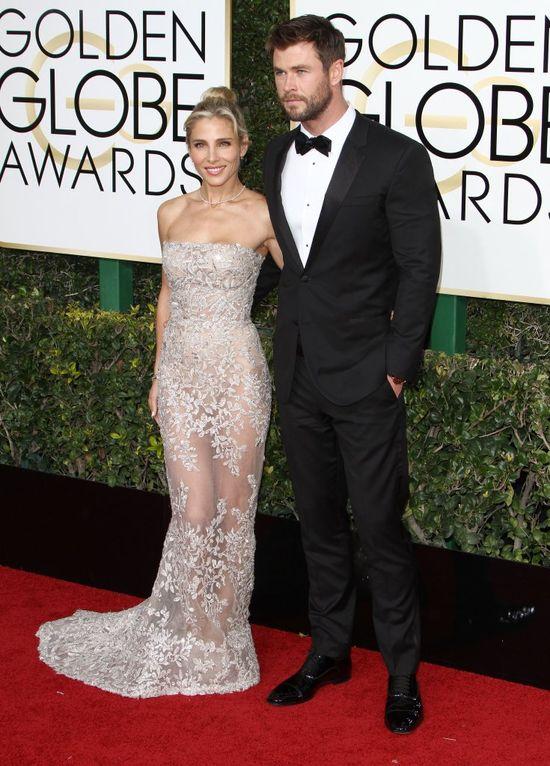 Elsa Pataky i Chris Hemsworth na rozdaniu Złotych Globów 2017