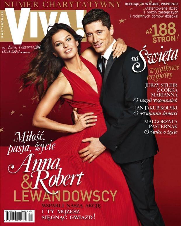 Anna i Robert Lewandowski na okładce Vivy, grudzień 2014