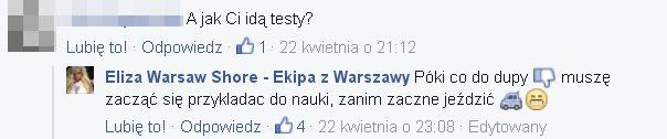 Eliza z Warsaw Shore szczerze o przygotowaniach do egzaminu