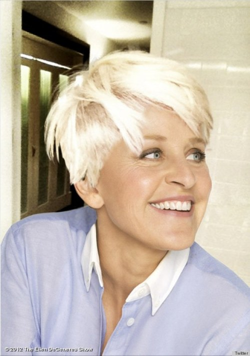 Ellen DeGeneres skopiowała fryzurę Miley Cyrus (FOTO)