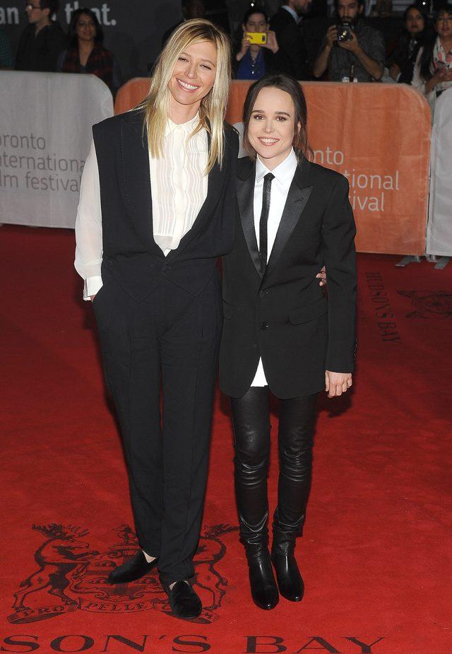 Ellen Page z partnerką na czerwonym dywanie