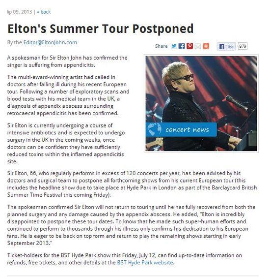Eltona Johna czeka operacja!