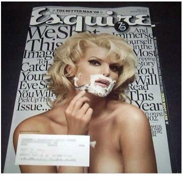 Jessica Simpson dla Esquire