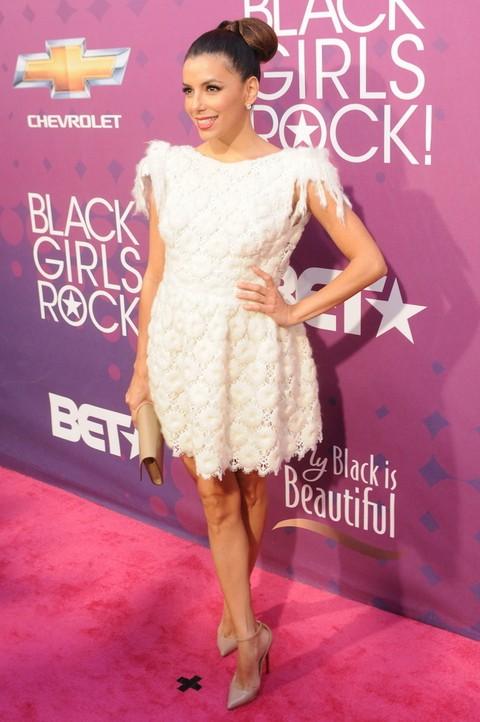 Piękna Eva Longoria na imprezie dla ciemnoskórych dziewczyn