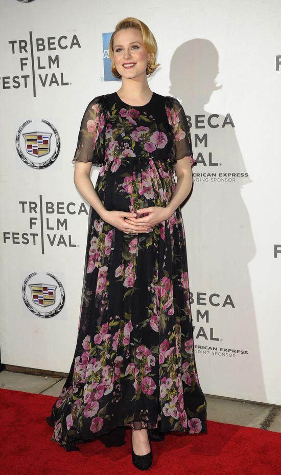 Evan Rachel Wood w ciąży wygląda kwitnąco (FOTO)