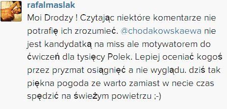 Fanki Rafała Maślaka obrażały Ewę Chodakowską