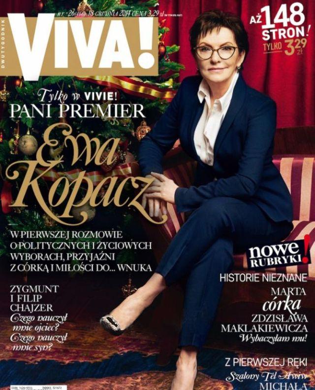 Ewa Kopacz na ok�adce Vivy! - jest AWANTURA! (FOTO)