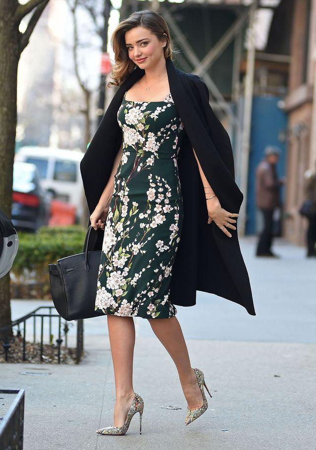 Miranda Kerr w sukience Dolce&Gabbana