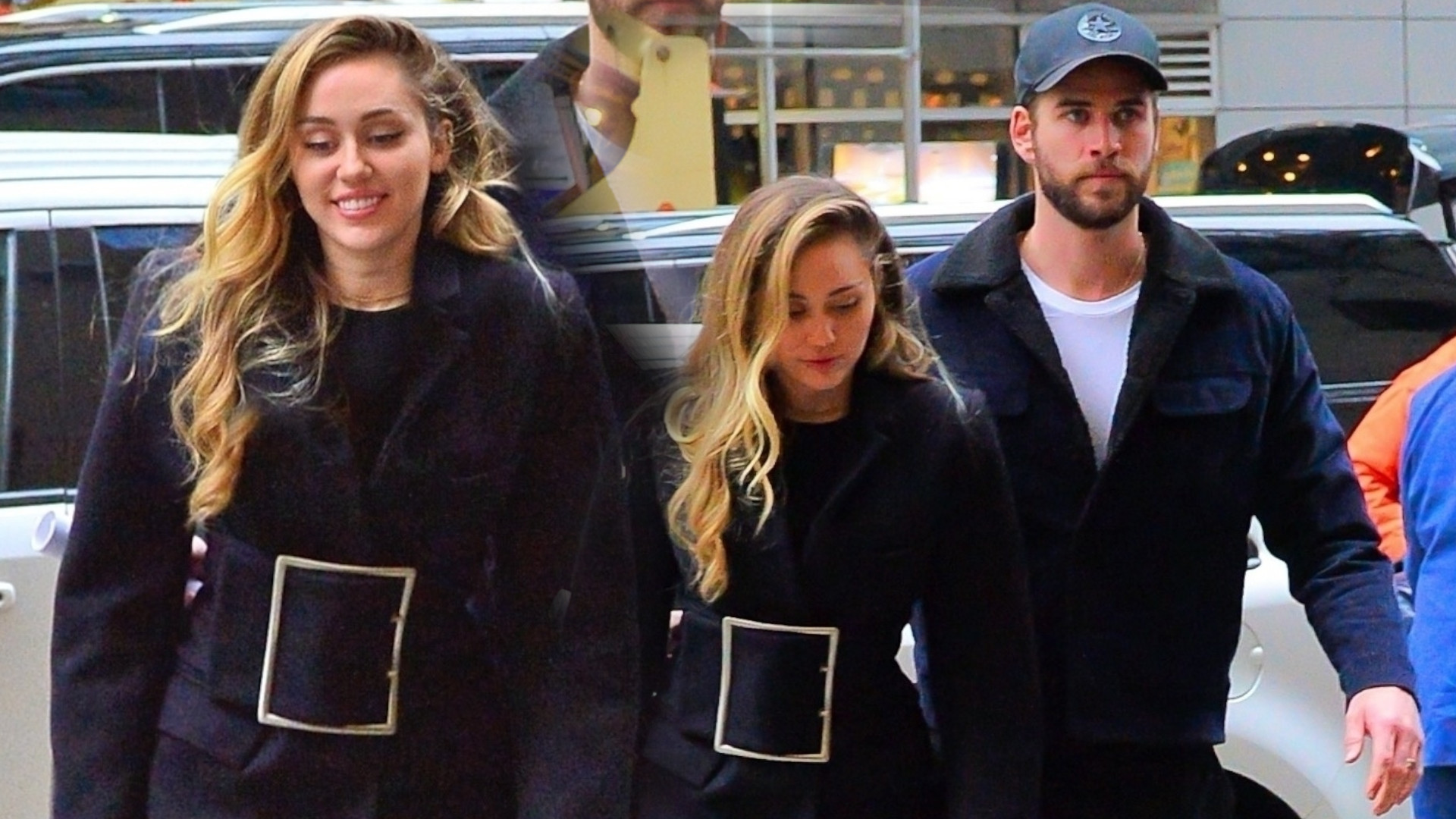 Miley Cyrus uśmiechnięta u boku Liama Hemswortha