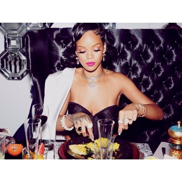 Rihanna 2014 rok witała w wielkim stylu