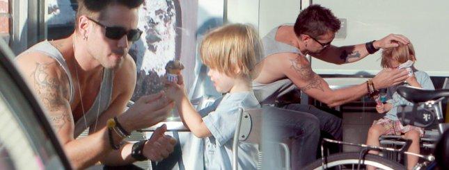 Colin Farrell zabrał małego Henry'ego na lody (FOTO)