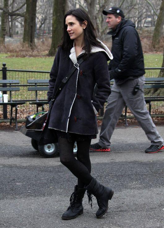 Zarośnięty Colin Farrell i piękna Jennifer Connely na planie