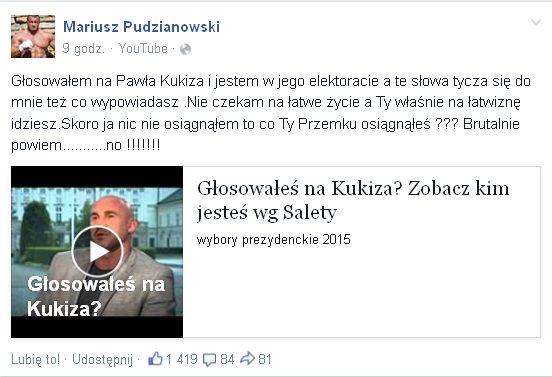 Pudzianowski odpowiada Salecie: Co Ty Przemku osiągnąłeś?