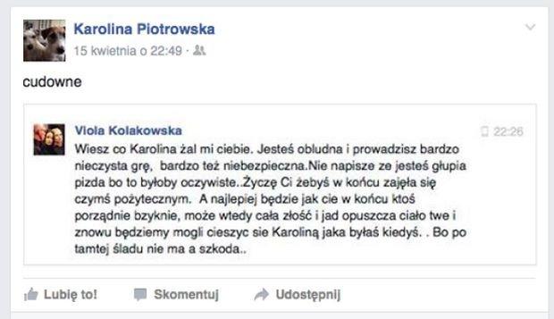 Kołakowska do Korwin-Piotrowskiej: Głupia P***A!