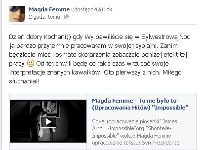 Szok! Co Magda Femme nagra�a w Sylwestra? (VIDEO)