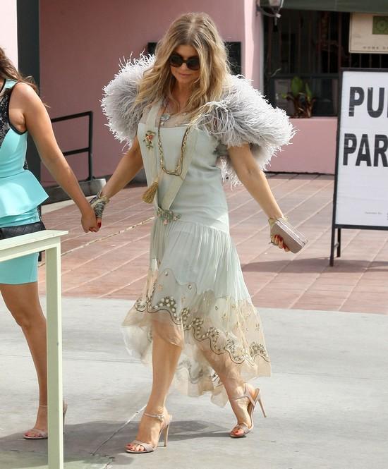 Fergie w ci��y wygl�da kiepsko (FOTO)