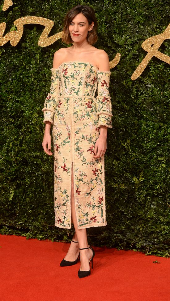 Alexa Chung, British Fashion Awards 2015