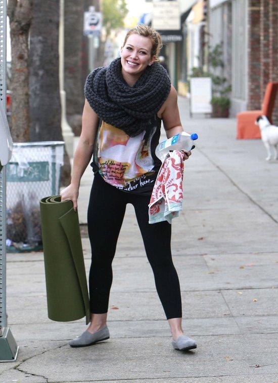 Hilary Duff wytrwale pracuje nad sylwetk� (FOTO)
