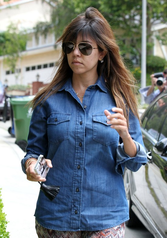 Naturalna Kourtney Kardashian (FOTO)