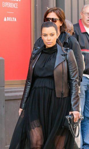 Kim Kardashian w szpilkach do 9 miesiąca ciąży? (FOTO)