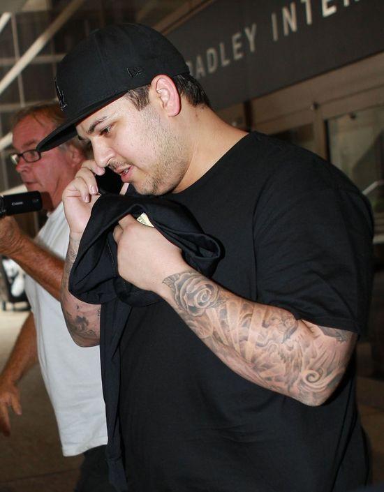 Co za zmiana! Rob Kardashian schódł już... 30 kilogramów! (FOTO)