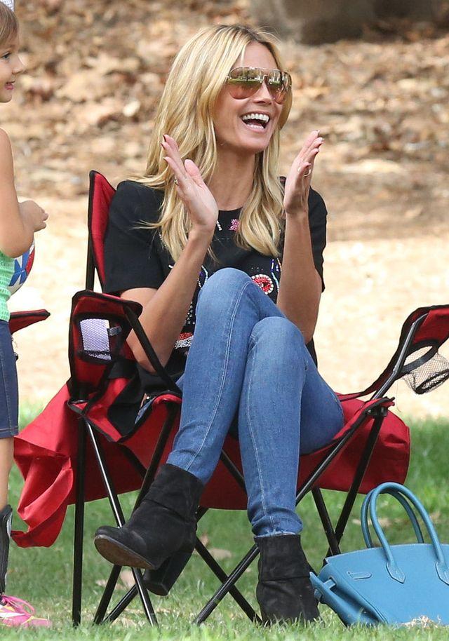 Heidi Klum pokazała brzuszek (FOTO)