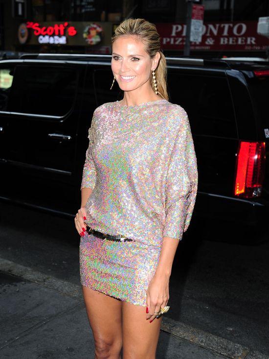 Heidi Klum będzie nosić takie mini minimum do pięćdziesiątki