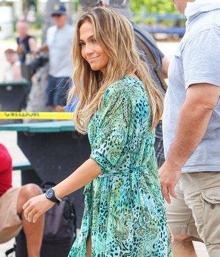 Jennifer Lopez podczas kręcenia nowego teledysku (FOTO)