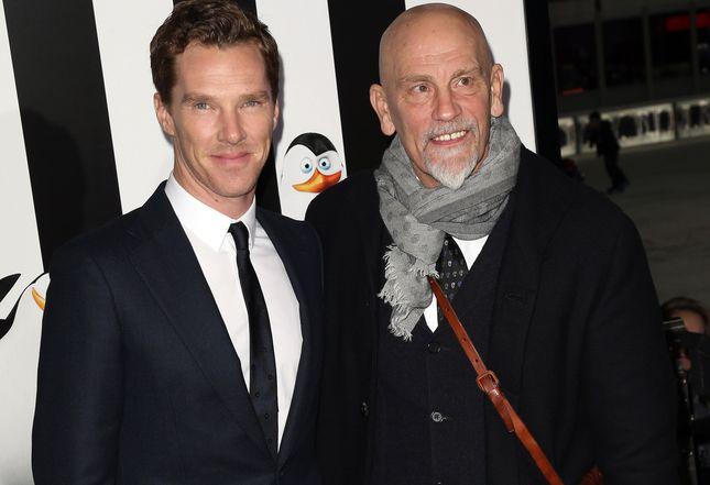 Malkovich i Cumberbatch na premierze Pingwinów (FOTO)