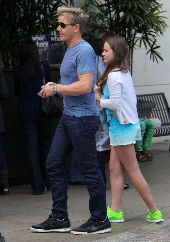 Gordon Ramsay z córką na zakupach (FOTO)