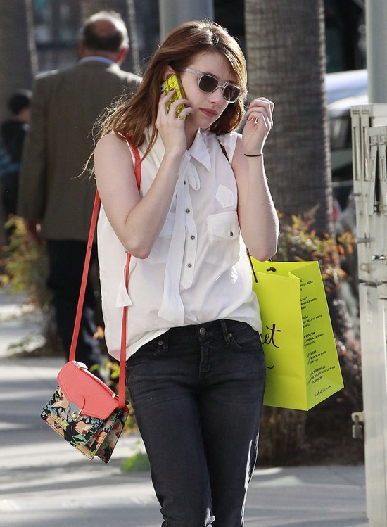 Emma Roberts na zakupach (FOTO)